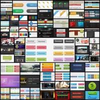 110-free-psd-content-slider-ribbons-drop-down-navigation-menu-and-video-players