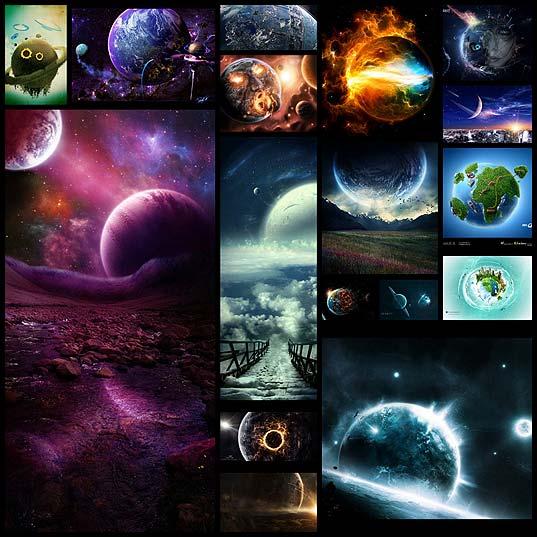 イラスト・壁紙】惑星を題材にした綺麗・壮大なアート17枚