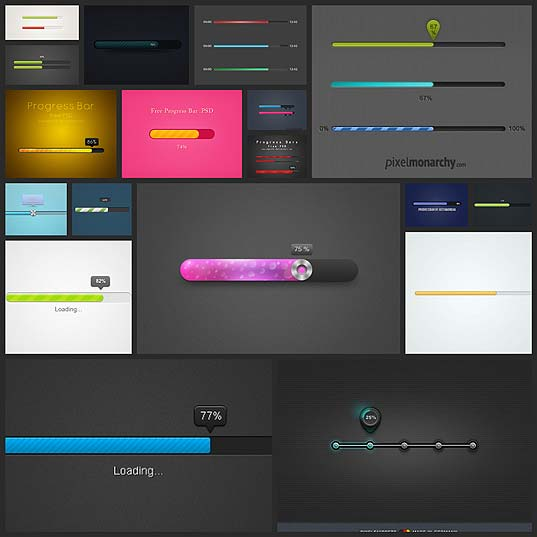 18free-progress-bar-ui-psd-templates
