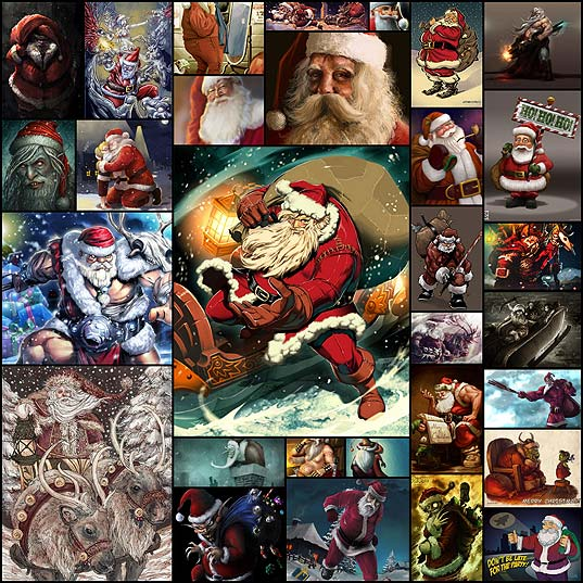 santa-claus-illustrations30