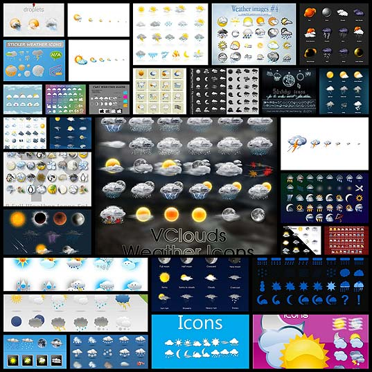 30+-Sets-of-High-Quality-Weather-Icons-for-Free