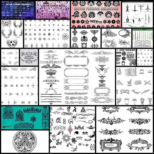 20-free-set-of-ornaments-vector-resources