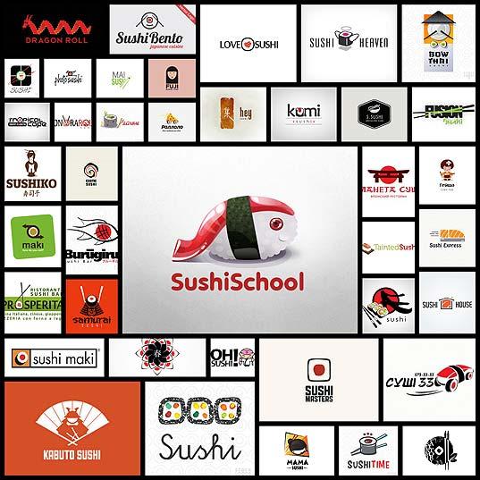 45-super-delicious-sushi-logos