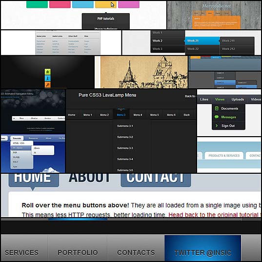 15-fresh-navigation-menu-tutorial-using-css3-html5