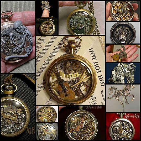 15-sculptures-made-from-old-watch-parts