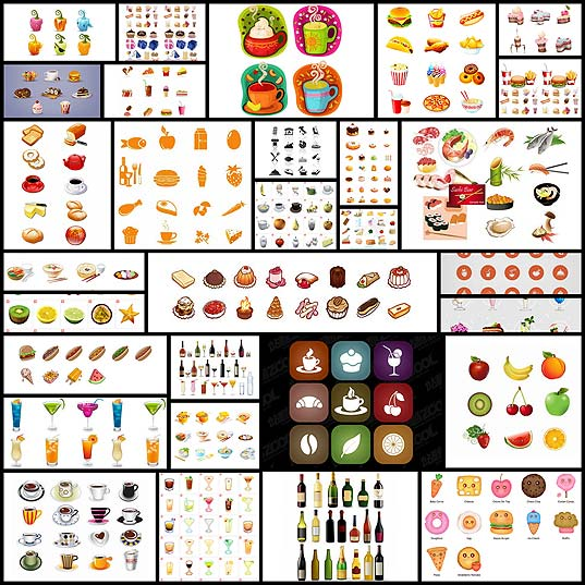 30-Sets-of-Free-Food-and-Drinks-Icons