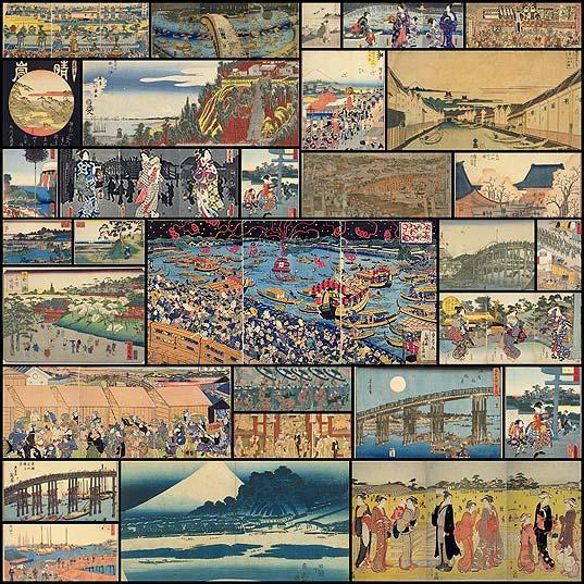 江戸の名所103ヶ所を描いた「錦絵」484点