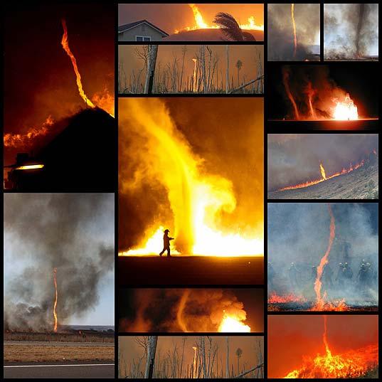 ファイラ&トルネドのような火災旋風の写真13枚+1ムービー