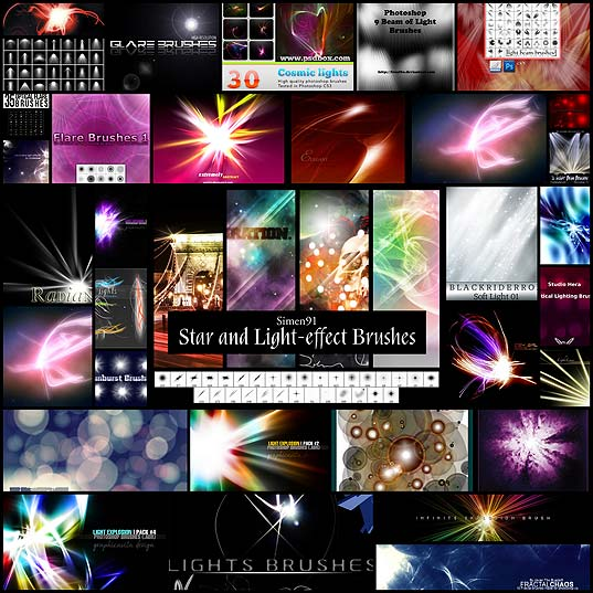 30-free-flare-and-light-photoshop-brushes-sets