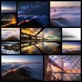 霧・夕陽に包まれた幻想的なゴールデンゲートブリッジの写真(12枚)