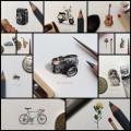 硬貨より小さく超精細に描かれたイラスト・アート(12枚)
