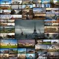 世紀末のような状態に陥った世界各地を描いたCGアート(52枚)