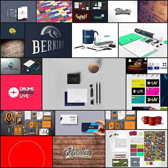 デザインスタジオ「Triocom」によるロゴ、名刺、ステーショナリーデザイン(27枚)