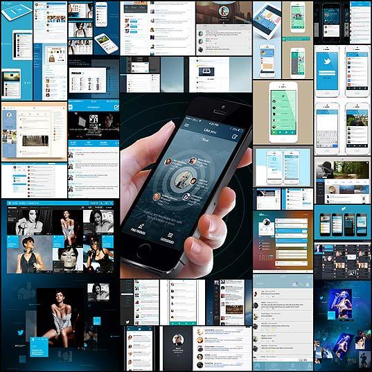 リスト・タイムライン型のWeb・スマホアプリデザインの参考になるTwitterのリデザイン集(23例)