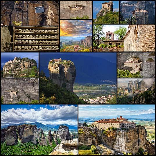 断崖絶壁の上に建設された修道院「メテオラ」(写真14枚)