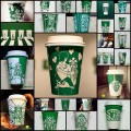 面白アレンジしたスタバのカップデザイン(25例)