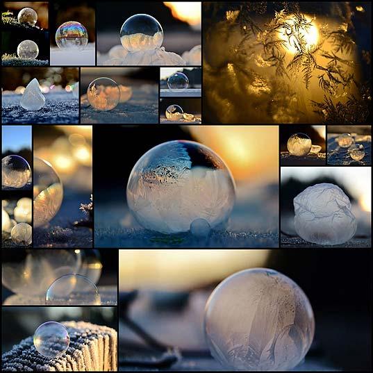 それだけでアートな凍ったシャボン玉の写真(19枚)