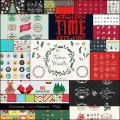 アイコンやフォントなどフリーなクリスマス向け素材(25セット)