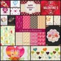 フリー&ハートいっぱいなバレンタイン向けベクトル素材(15個)