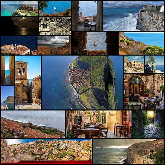 小さな島に築かれたギリシャの城塞都市「モネンバシア」の写真(22枚)