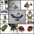 メタルなスクラップパーツで作るスチームパンクな動物フィギュアアート(13枚)