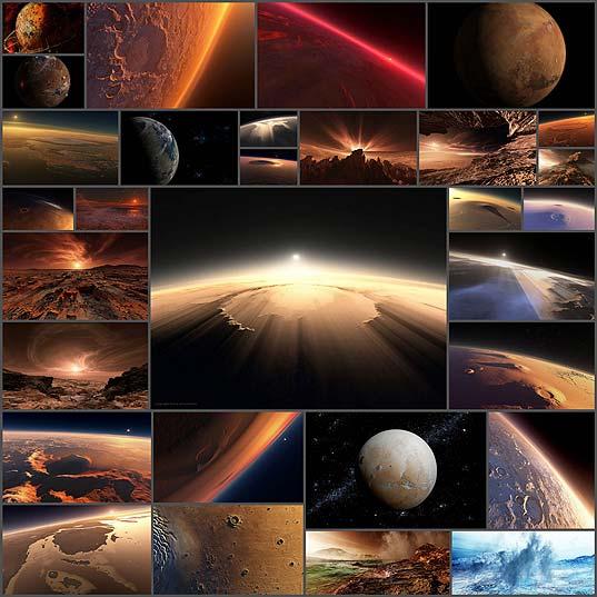 火星の印象的な美しさ
