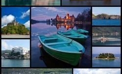 幻想的な湖の中の館10