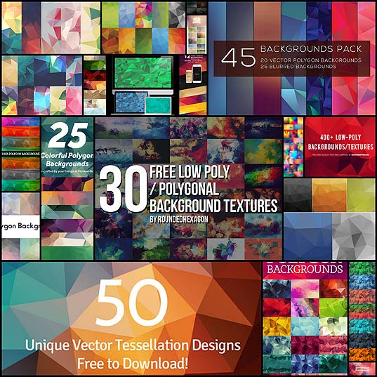 400+-Free-Polygonal-(Low-Poly)-Backgrounds