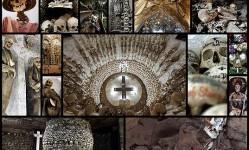 ダークソウルに出てきそうなガイコツいっぱいの納骨堂、地下墓地の写真23