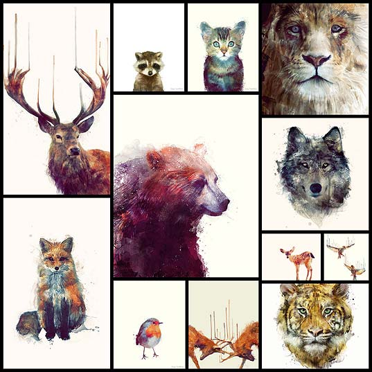 Dreamy-Animal-Illustrations-Come-to-Life-through-an-Energetic-Brushstroke-Style---My-Modern-Met