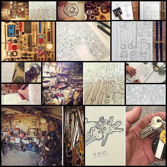 Artist-Celebrates-Late-Grandfather-By-Drawing-Each-Of-The-100,000+-Items-He-Left-In-His-Toolshed--Bored-Panda