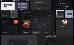 22-Dark-Form-PSD-Freebies-for-Web-&-UI-Designers