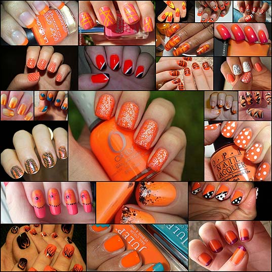 24-Awesome-Ways-to-Wear-Orange-Nail-Art-Designs
