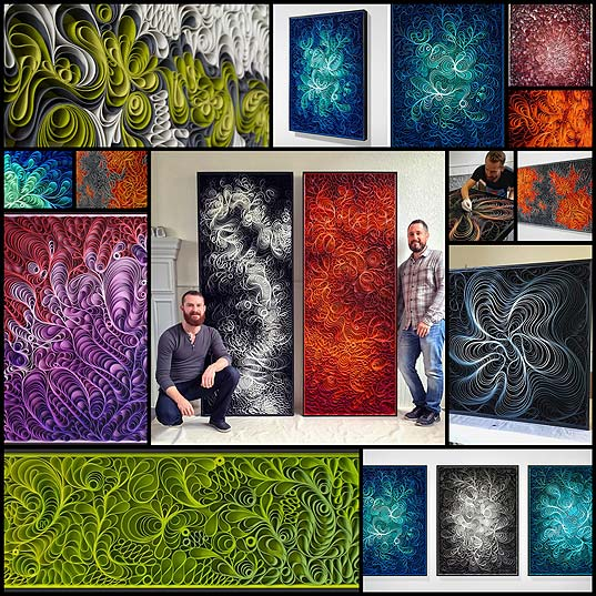 Hypnotic-3D-Canvas-Sculptures-Play-with-Vibrant-Colors-and-Swirling-Textures---My-Modern-Met1
