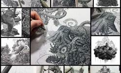 Millions-Of-Dots-Form-Intricate-Pen-Drawings-To-Raise-Environmental-Awareness--Bored-Panda