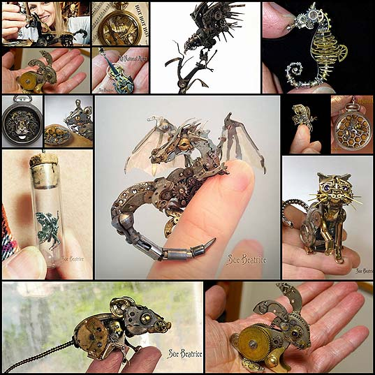 Old-Watch-Parts-Recycled-Into-Steampunk-Sculptures-By-Susan-Beatrice--Bored-Panda1