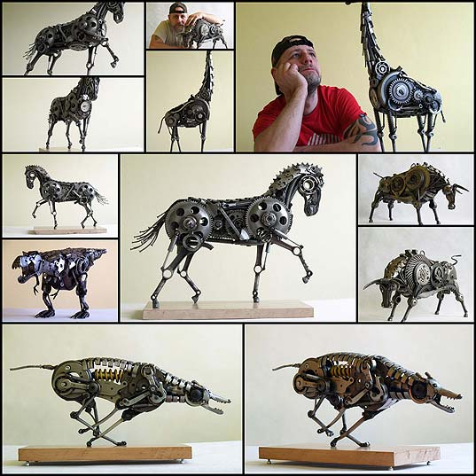 Tomas-Vitanovsky-Welds-Animal-Sculptures-Out-of-Scrap-Metal-«TwistedSifter