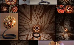 Sculptural-Lamps-Crafted-from-Gourds-Project-Dazzling-Displays-of-Light---My-Modern-Met