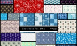 50+-Seamless-Snowflakes-Patterns,-Backgrounds--Best-Design-Options