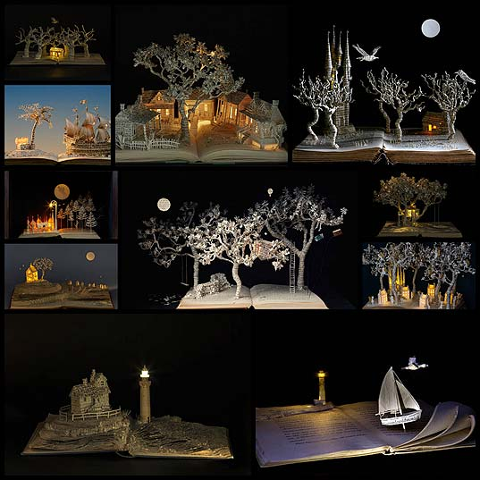 Magical-World-Created-from-Illuminated-Book-Sculptures-by-Su-Blackwell--Design-Swan