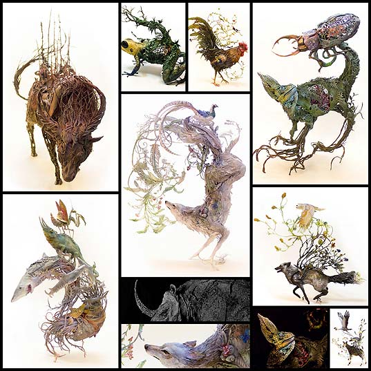 New-Surrealist-Sculptures-by-Ellen-Jewett-Effortlessly-Combine-Animals-With-Their-Fantastical-Surroundings--Colossal