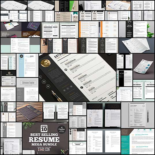 The-Best-CV-&-Resume-Templates-50-Examples--Design-Shack