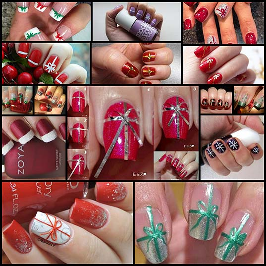 12-Christmas-Gift-Wrapped-Nail-Art-Designs