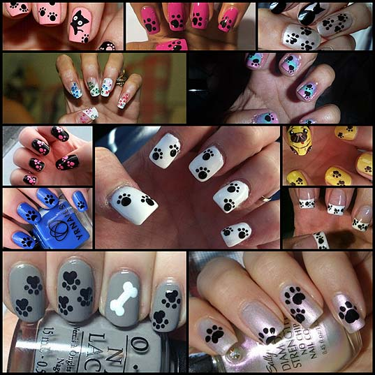 12-Super-Cute-paw-Print-Nails