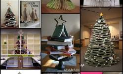 Оригинальные-и-стильные-новогодние-елки-для-книголюбов