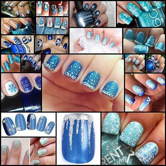 21-Beautiful-Blue-Winter-Nails-to-Try