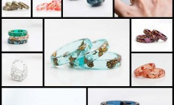 Handcrafted-Jewelry-Elegantly-Sparkles-with-Metallic-Flecks-Embedded-in-Colorful-Resin---My-Modern-Met