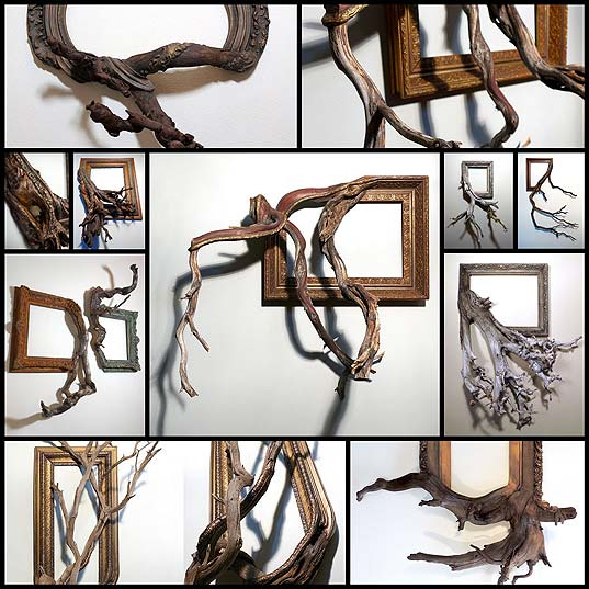 Salvaged-Tree-Branches-Seamlessly-Emerge-from-Antique-Picture-Frames---My-Modern-Met