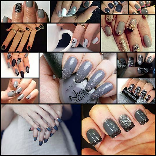 14-Gorgeous-Gray-Nail-Designs