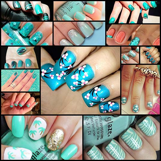 15-Trendy-Turquoise-Nail-Designs